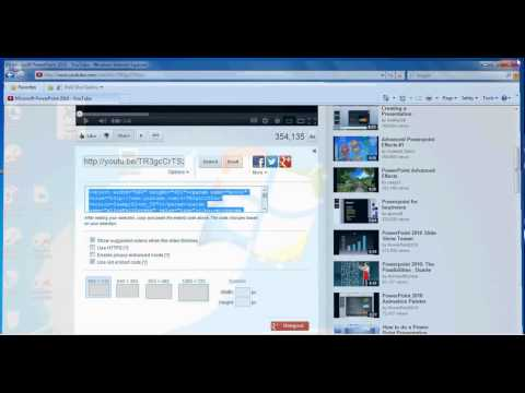 MS PowerPoint 2010 - Insert a Video from YouTube into a Presentation