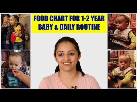 FOOD CHART FOR 1 TO 2 YEAR BABY & DAILY ROUTINE