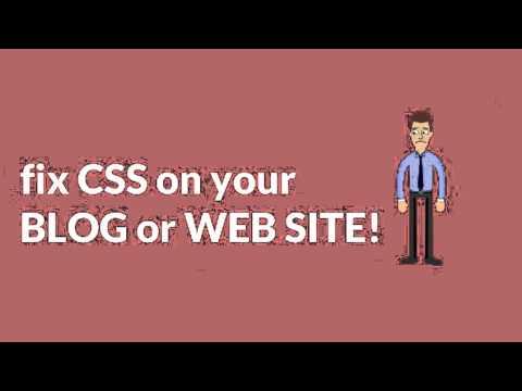 CSS error fixing