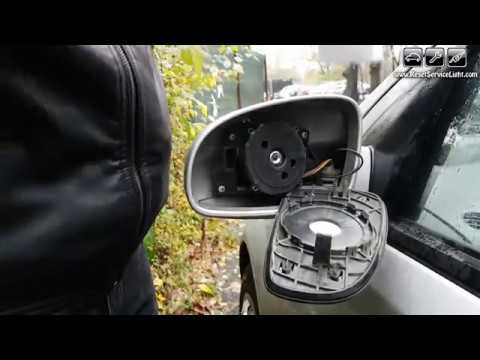 Remove and mount back a glass mirror Chevrolet Aveo 2005 2011