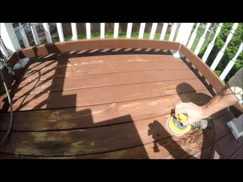 Deck Refinishing - Solid Color Acrylic Stain, Fairfax Brown