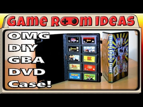 Game Room Ideas - DIY Gameboy Advance game cases