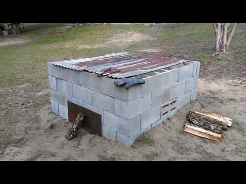 How to build a cinder block smoker
