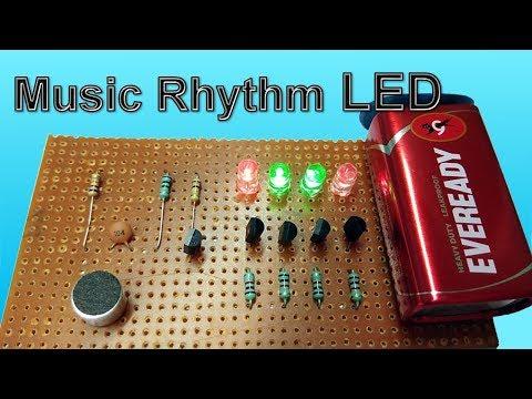 Music Rhythm LED Flash light using Microphone  DANCING LEDs VU meter