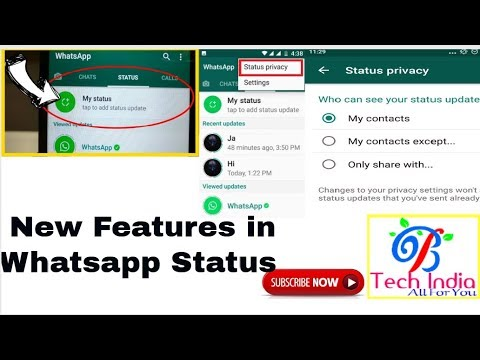 #newfeatureinwhatsapp How to change my status privacy setting -new features launched by WhatsApp