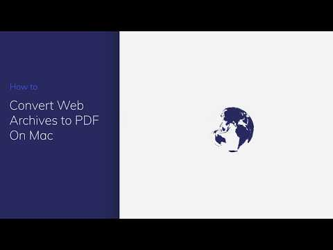 Convert Web Archive to PDF On Mac with PDFelement