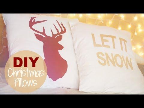 DIY Deer Head Silhouette Pillow   Freezer Paper Fabric Stencils