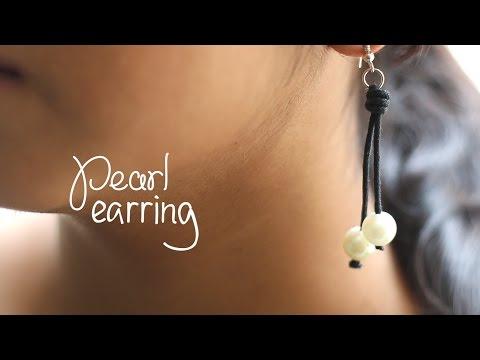 DIY: Pearl Dangle Earrings