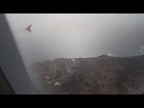 Landing at Tenerife South airport from Manchester Airport