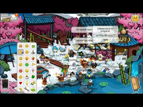 Club Penguin: Meeting Sensei and Archiyoso