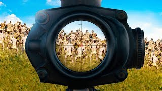 1 SNIPER vs. 999 ZOMBIES!! (PlayerUnknown