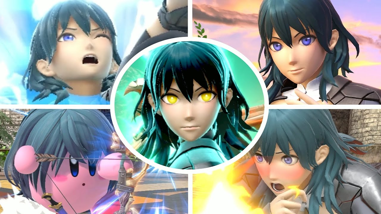 Byleth All Victory Poses, Final Smash, Kirby Hat & Palutena Guidance in Smash Bros Ultimate
