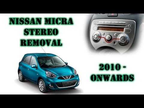 Nissan Micra / March 2010-onwards stereo removal