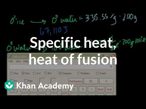 Specific heat, heat of fusion and vaporization example | Chemistry | Khan Academy