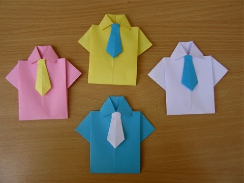How to Make a Paper Souvenir for Father's Day - Easy Tutorials