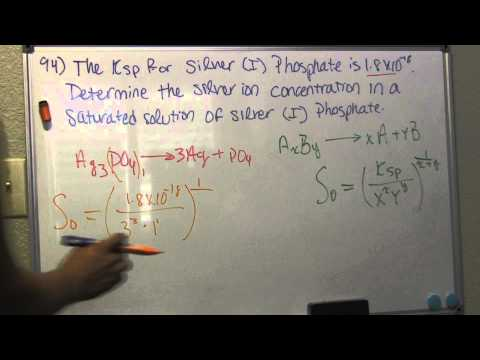 Calculate product concentration from Ksp - Problem 94