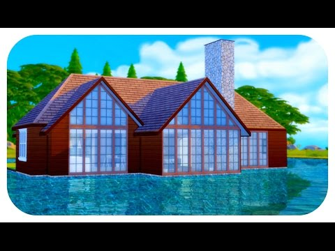 The Sims 4| House Build | Cabin Lake House!  (Speed Build)/College Talk 2