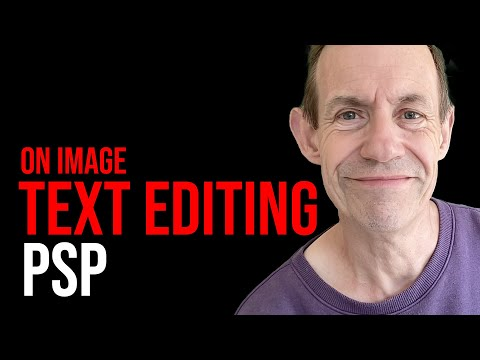 Tutorial: PaintShop Photo Pro X3 on image text editing using a lines design font