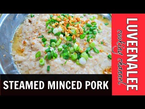 Steamed Minced Pork | Steam Minced Pork | Steamed Minced Meat |蒸肉餅