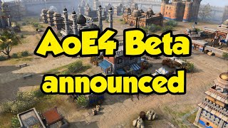 AoE4 Beta announced - starts in 2 days!