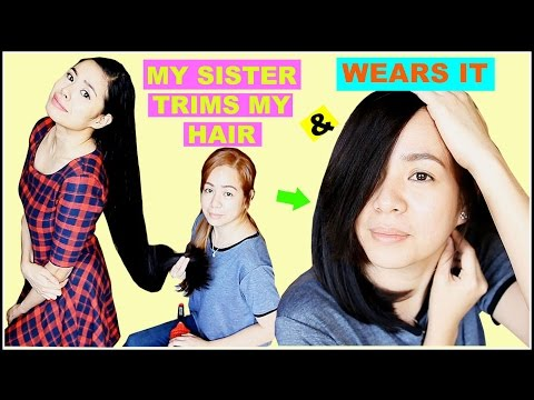 My Sister Trims My Hair & Wears It -How Much Did She Cut This Time? Beautyklove