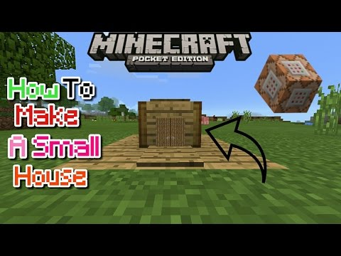 HOW TO MAKE A SMALL HOUSE USING COMMAND BLOCK IN MCPE 1.0.5/1.1.0/1.0.6.0 | MCPE CREATION | NO MODS
