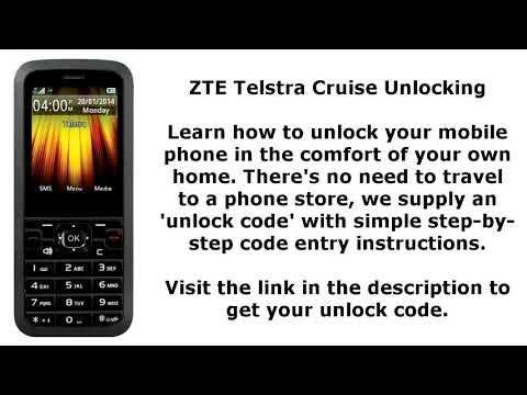 Unlock ZTE Telstra Cruise By Unlock Code