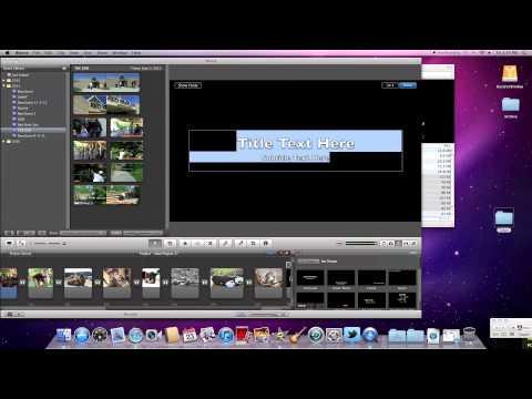 A QUICK (Kinda) Tutorial-Make a movie in iMovie