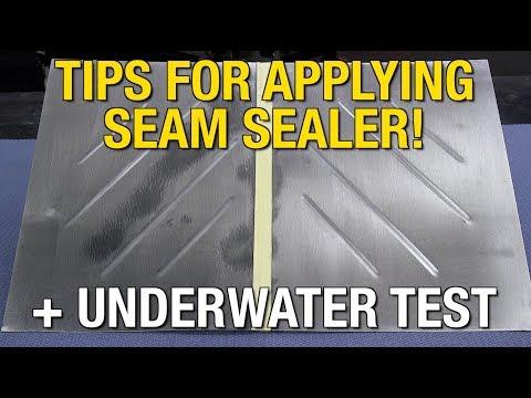 Eastwood Seam Sealer Water Test & Tips for Applying Seam Sealer on Floor Pans!