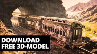 Modeling train wagon in Blender