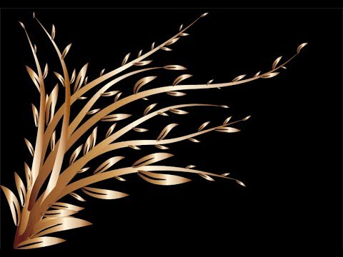 Adobe Illustrator   How to design a Gold tree by brush