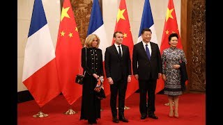 Macron and wife on maiden China visit as president