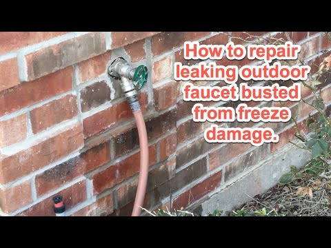 Outdoor Faucet Repair from Freezing