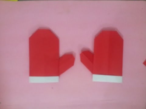 Origami glove paper-making glove paper-how to make glove paper-easy making glove paper