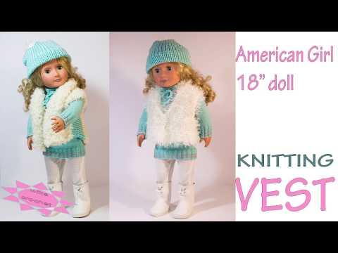 Doll vest knitting pattern Stockinette stitch Wika crochet