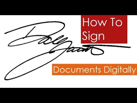 How to Sign Documents Digitally | Sign Canada Visitor Visa Application