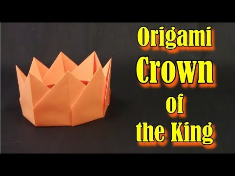 Origami Crown The MOST EASY Origami of Stickers ✦ IN ENGLISH✦ - Yakomoga Origami tutorial