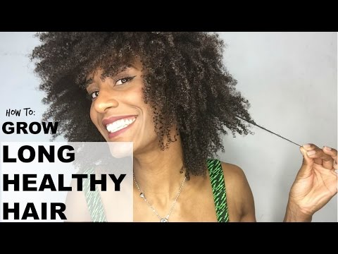 7 Tips To Help You Grow Long & Healthy (Natural/Kinky) Afro Hair