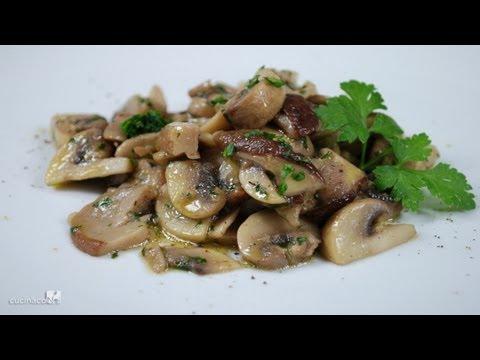 Sauteed Mushrooms Traditional Italian Recipe