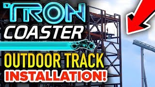 TRON Coaster TRACK INSTALLATION Nears Completion! - Disney News