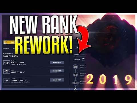 NEW RANKED REWORK! RANK FOR EACH ROLE! 2 New Rank Tiers & 4 Divisions! League of Legends