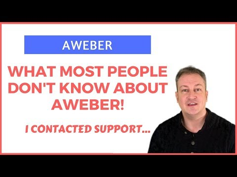 AWEBER – PROOF OF WHAT MOST PEOPLE DON'T KNOW ABOUT AWEBER