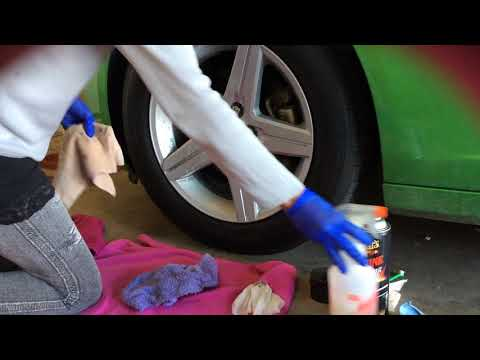 Asmr Cleaning Spraying Wiping Car Tire Wheel no talking no tapping