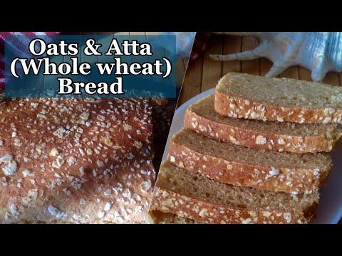 Whole wheat & Oats Bread Recipe | How to make Easy Oats & Atta Bread | Healthy Breakfast