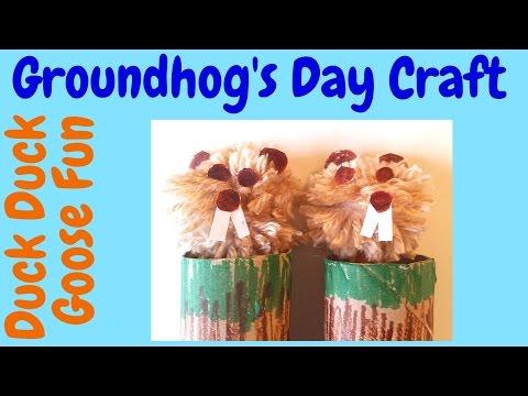 Punxsutawney Phil: Easy Pom Pom Pencil-Top Groundhog for Kids to Celebrate Groundhog Day