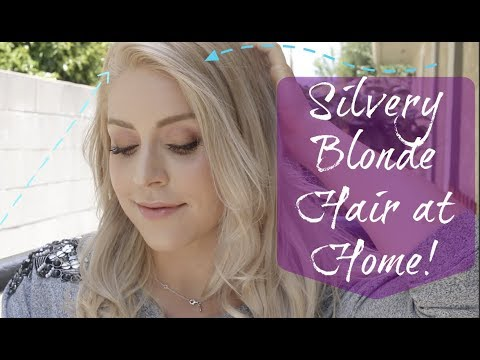 Silver Blonde Hair AT HOME without Bleach!