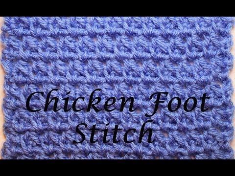 How to Crochet Chicken Foot Stitch