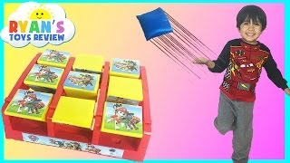 Paw Patrol Toy Toss Across Family Fun Game for Kids Tic Tac Toe Egg Surprise Toy Ryan ToysReview