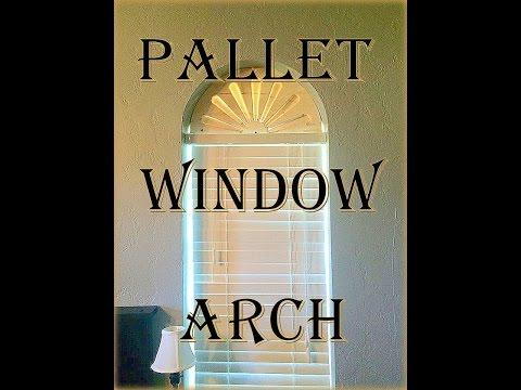 Pallet Arch Window Shade
