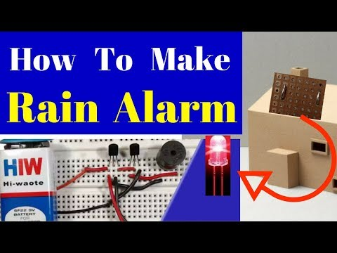 how to make a rain alarm sensor